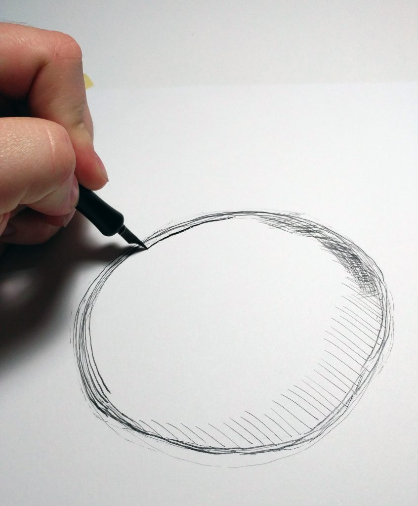 Putting ink on the paper