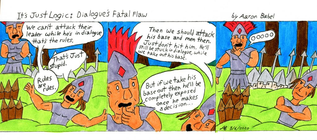 It's Just Logic: Dialogue's Fatal Flaw